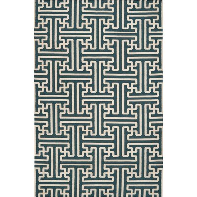 Brinda Peacock/Green Area Rug Rug Size: Rectangle 36 x 56