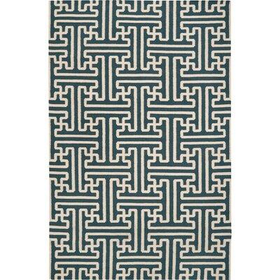 Brinda Peacock/Green Area Rug Rug Size: 36 x 56