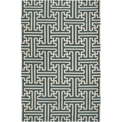 Brinda Peacock/Green Area Rug Rug Size: Rectangle 5 x 8