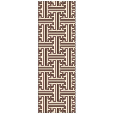 Vihaan Golden Brown/Ivory Area Rug Rug Size: Runner 26 x 8