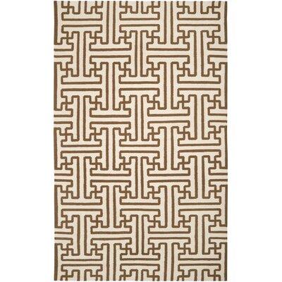 Brinda Golden Brown/Ivory Area Rug Rug Size: 8 x 11