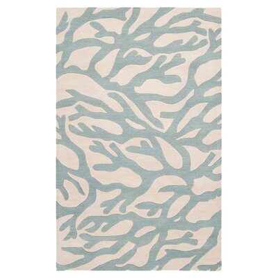 Escape Hand-Tufted Powder Blue Area Rug Rug Size: 2 x 3