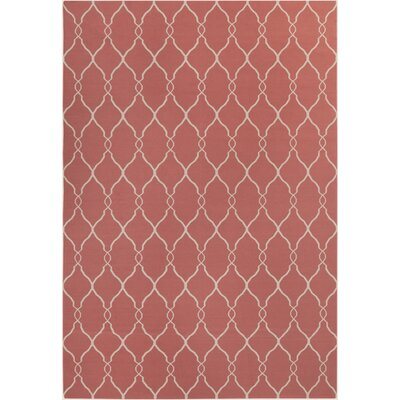Findley Hand-Woven Coral/Ivory Area Rug Rug Size: Rectangle 9 x 13