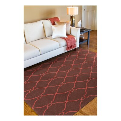 Provincial Brown/Rust Area Rug Rug Size: 8 x 11