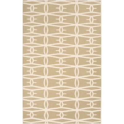 Kymani Hand-Woven Beige Area Rug Rug Size: Rectangle 2 x 3