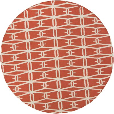 Fallon Coral Area Rug Rug Size: Round 8