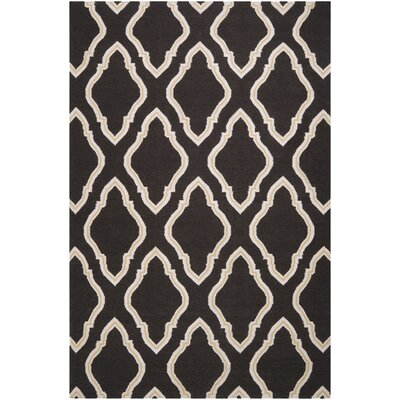 Findley Hand-Woven Black/Butter Area Rug Rug Size: Rectangle 2 x 3