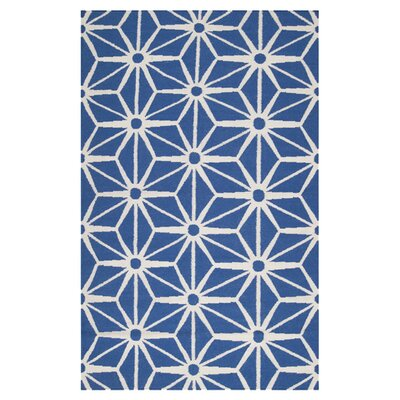 Oma Hand-Woven Ultramarine Blue Area Rug Rug Size: Rectangle 2 x 3
