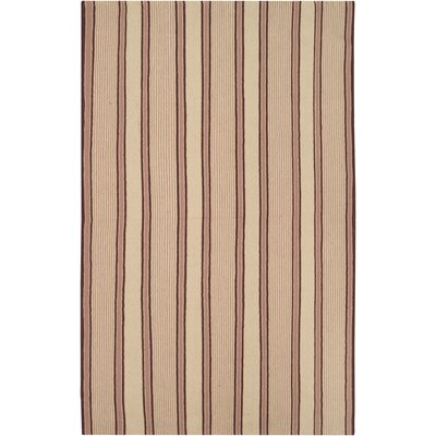Gironde Hand-Woven Brown/Tan Area Rug Rug Size: Rectangle 36 x 56