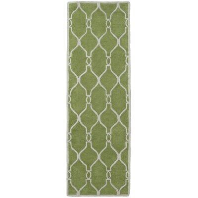 Medora Geometric Green Area Rug Rug size: Runner 26 x 8