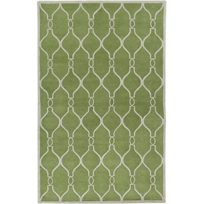 Medora Geometric Green Area Rug Rug size: Rectangle 33 x 53