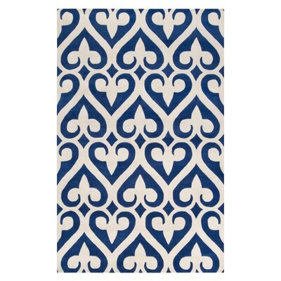 Cavett Geometric Cobalt Area Rug Rug size: Rectangle 9 x 13