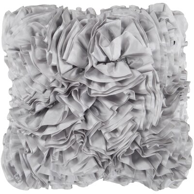 Portia Pillow Cover Color: Gray, Size: 18 x 18
