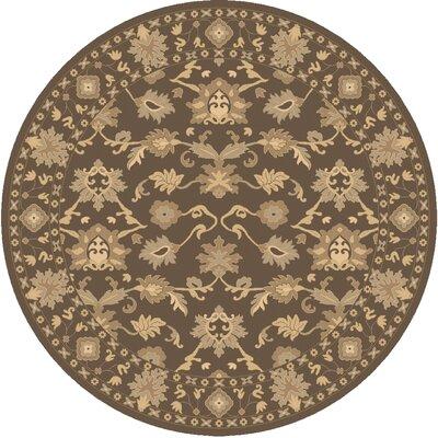 Surya Caesar Hand-Tufted Dark Brown Area Rug - Rug size: Round 8'