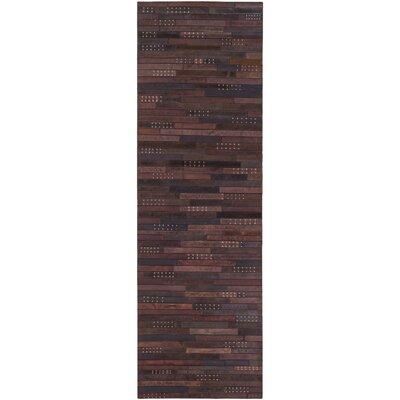 Surya Belt Hand-Crafted Dark Brown Area Rug - Rug size: 5' x 7'6