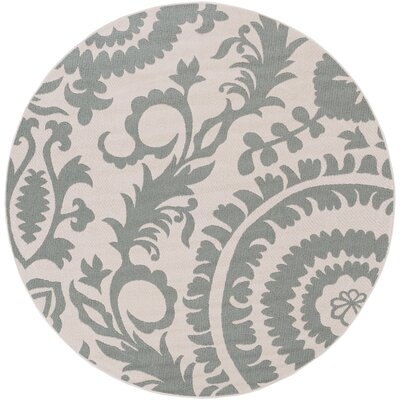 Hattie Parchment & Sage Indoor/Outdoor Rug Rug Size: Runner 23 x 79