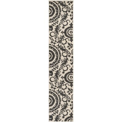 Alfresco Black/Khaki Indoor/Outdoor Area Rug Rug size: Runner 23 x 119