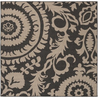 Hattie Pewter & Natural Indoor/Outdoor Rug Rug Size: Square 73