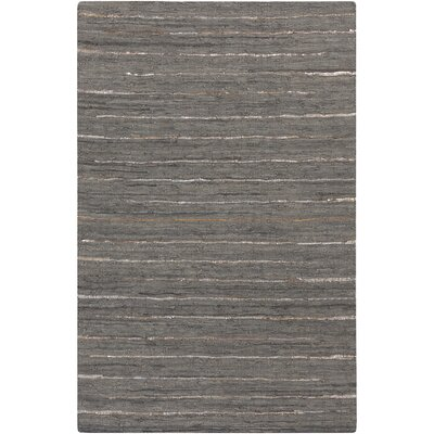 Anthracite Hand-Woven Area Rug Rug size: 8' x 10'