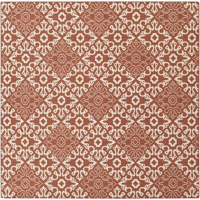 Pearce Rust/Cream Indoor/Outdoor Area Rug Rug size: Square 89
