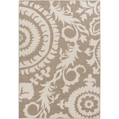 Alfresco Camel/Cream Indoor/Outdoor Area Rug Rug size: 53 x 76