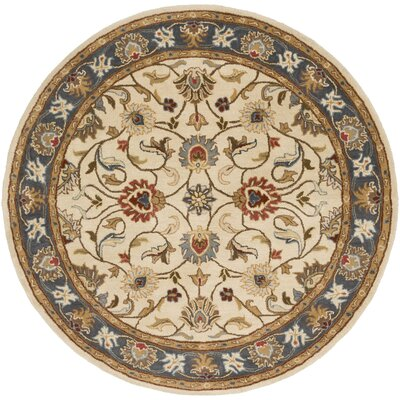 Topaz Hand-Tufted Area Rug Rug size: Round 4