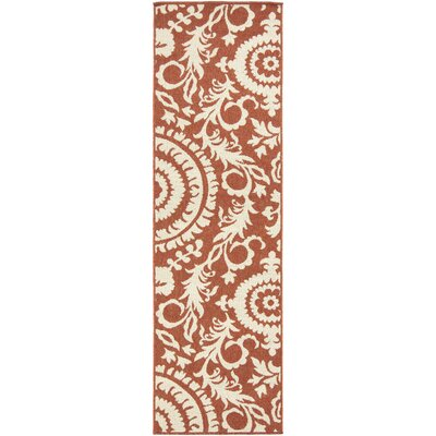 Alfresco Brown/Beige Indoor/Outdoor Area Rug Rug size: 23 x 46