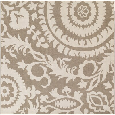 Hattie Natural & Parchment Indoor/Outdoor Rug Rug Size: Round 53