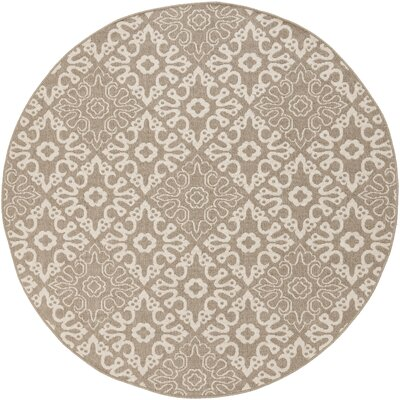 Lydia Natural Indoor/Outdoor Rug Rug Size: Round 73