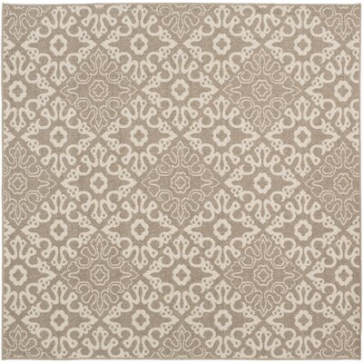 Lydia Natural Indoor/Outdoor Rug Rug Size: Square 89
