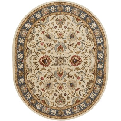 Topaz Hand-Tufted Area Rug Rug size: Oval 8' x 10'