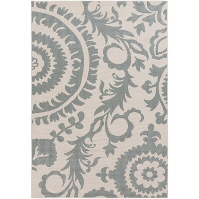Alfresco Cream/Sage Indoor/Outdoor Area Rug Rug size: 76 x 109