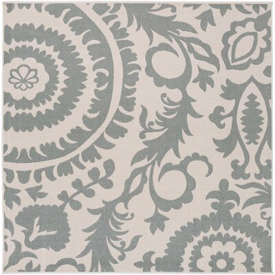 Hattie Parchment & Sage Indoor/Outdoor Rug Rug Size: Rectangle 23 x 46