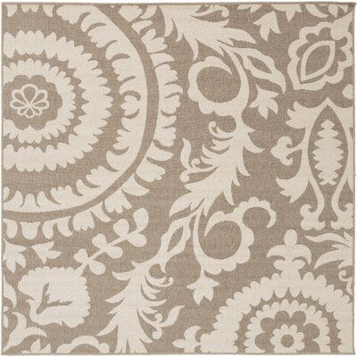 Alfresco Camel/Cream Indoor/Outdoor Area Rug Rug size: Square 73