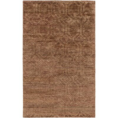 Limewood Hand-Knotted Rust Area Rug