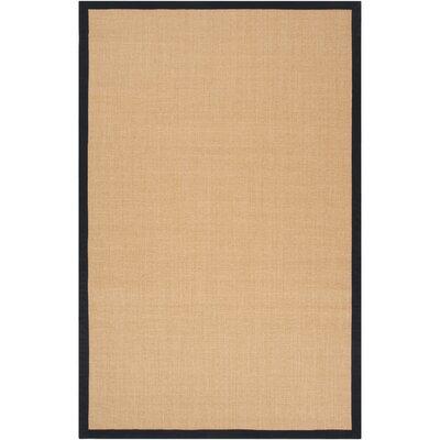 Clinton Hand-Woven Navy/Cream Area Rug Rug size: 4 x 6