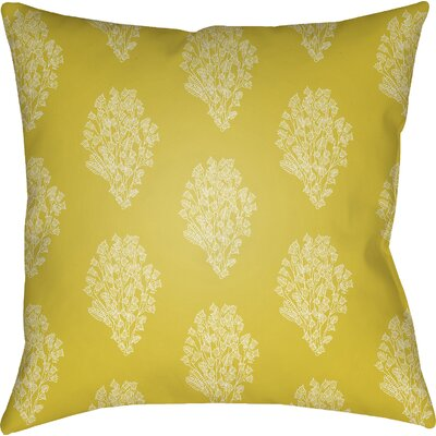 Makenna Throw Pillow Color: Yellow/White, Size: 22 H x 22 W x 5 D