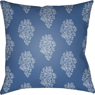 Makenna Throw Pillow Color: Blue/White, Size: 22 H x 22 W x 5 D