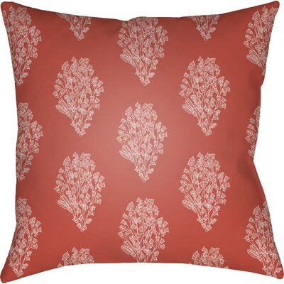 Glengormley Throw Pillow Size: 20 H x 20 W x 4 D, Color: Red/White