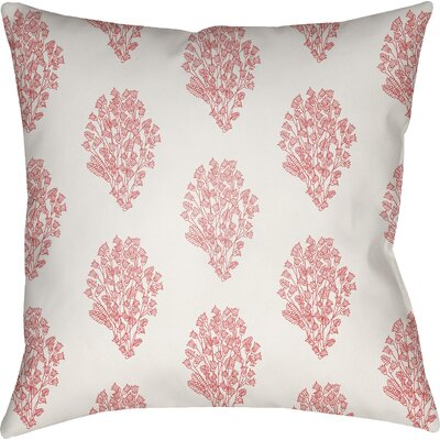 Makenna Throw Pillow Size: 18 H x 18 W x 4 D, Color: White/Red