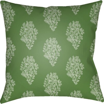 Glengormley Throw Pillow Size: 18 H x 18 W x 4 D, Color: Green/White