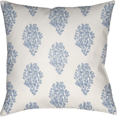 Glengormley Throw Pillow Size: 22 H x 22 W x 5 D, Color: White/Blue