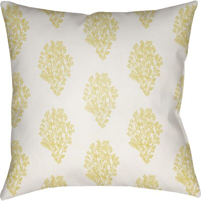 Makenna Throw Pillow Color: White/Yellow, Size: 22 H x 22 W x 5 D