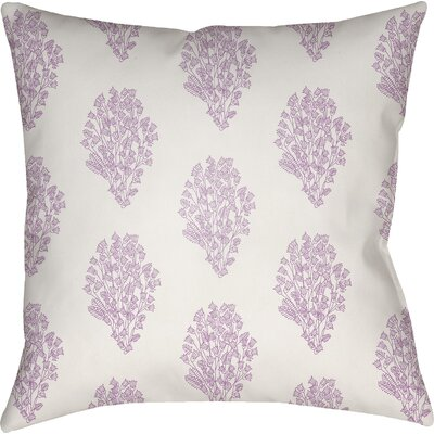 Makenna Throw Pillow Size: 20 H x 20 W x 4 D, Color: White/Purple
