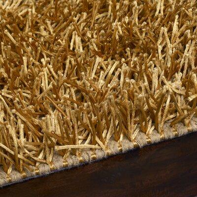 Bonomo Hand-Woven Gold Area Rug Rug Size: 26 x 42