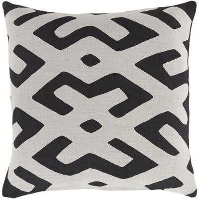 Bomaderry 100% Linen Throw Pillow Cover Size: 18 H x 18 W x 0.25 D, Color: GrayBlack
