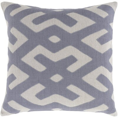 Bomaderry 100% Linen Throw Pillow Cover Size: 22 H x 22 W x 1 D, Color: BlueGray