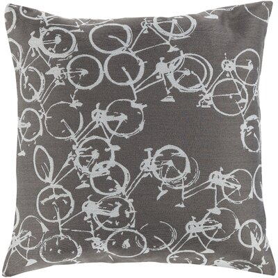 Camptown Throw Pillow Cover Size: 22 H x 22 W x 0.25 D, Color: GrayNeutral