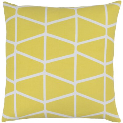 Canning 100% Cotton Throw Pillow Cover Size: 18 H x 18 W x 1 D, Color: YellowNeutral