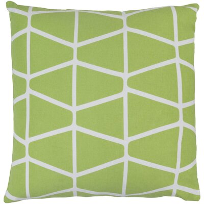 Canning 100% Cotton Throw Pillow Cover Size: 18 H x 18 W x 1 D, Color: GreenNeutral